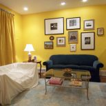 Effigy Of Yellow Wall Paint To Create Cheerful And Fraesh Nuance In