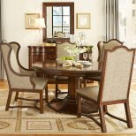 Egerton Round Dining Room Set W Upholstered Chairs Art Furniture