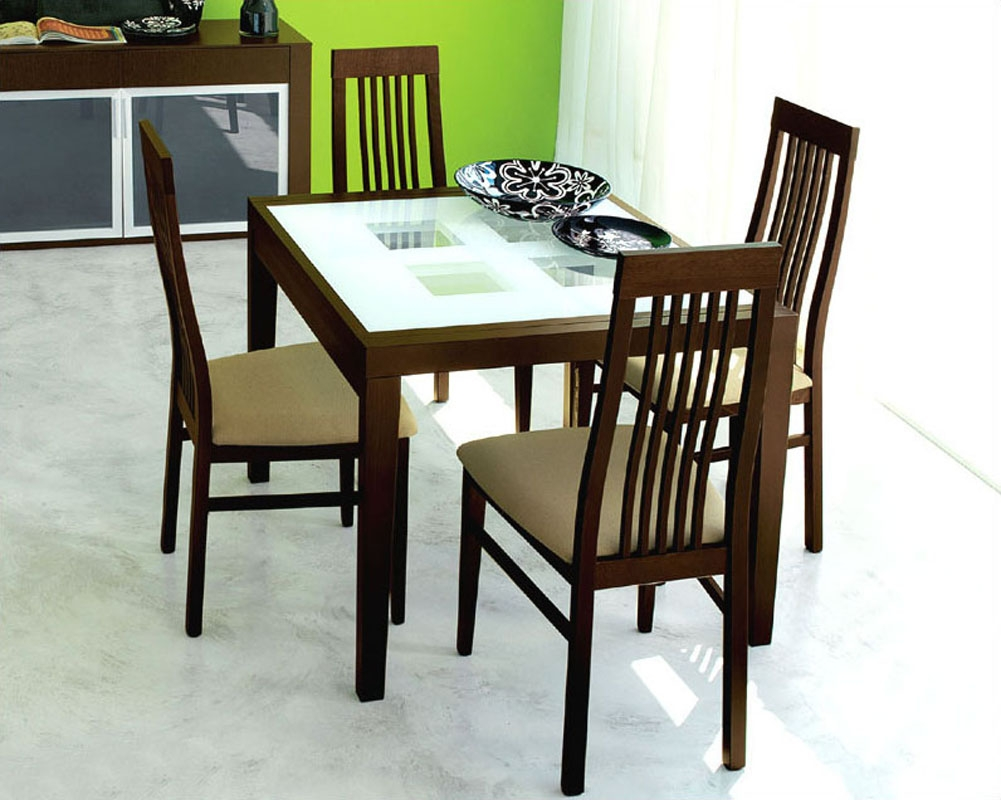 Expandable Dining Set Paloma W Frosted Glass Top Table Italy 33d91