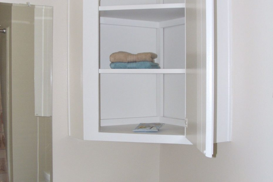 Furniture Wall Mounted Bathroom Corner Cabinet With Shelf And Within