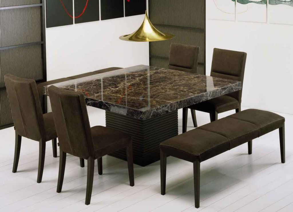 Get Extraordinary Fashionable Look With 2018 Marble Dining Tables