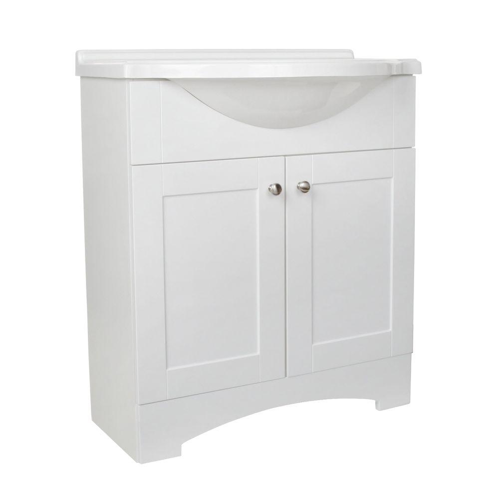 Glacier Bay Del Mar 30 In W X 36 In H X 19 In D Bathroom Vanity