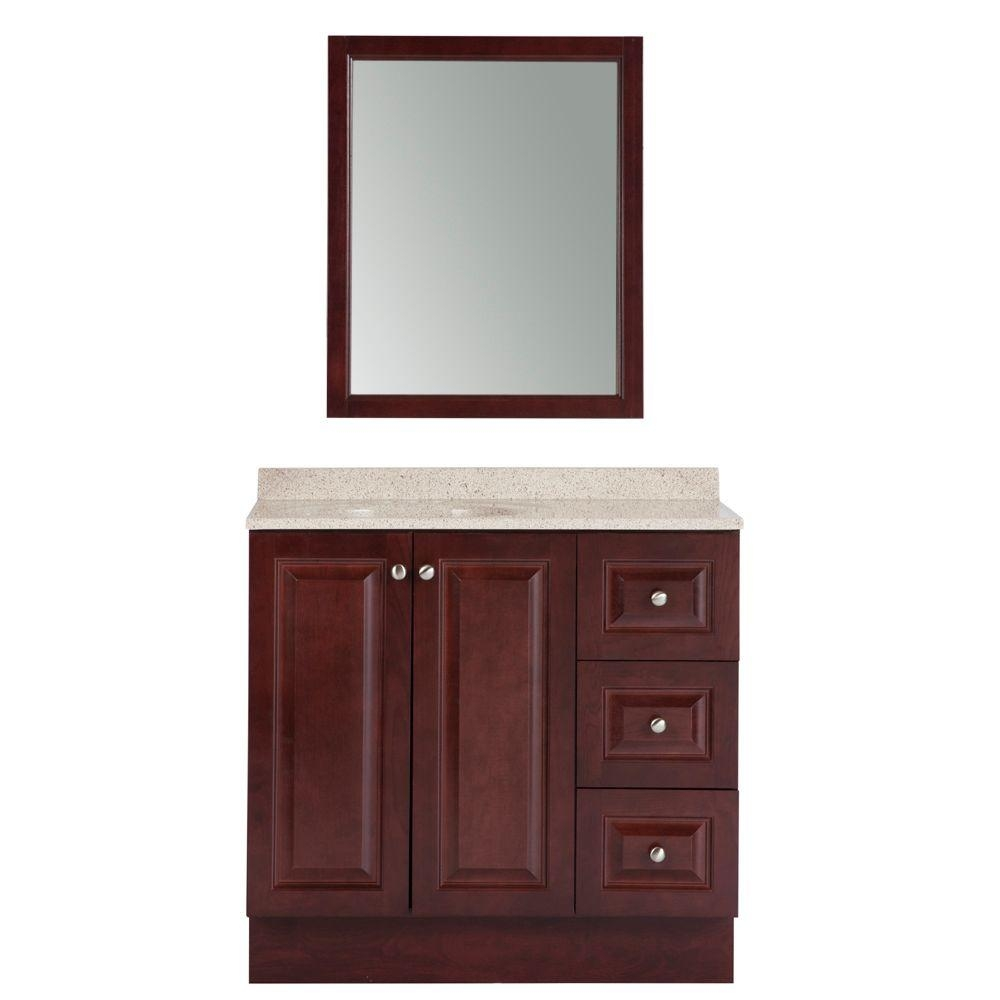 Glacier Bay Northwood 36 In W X 19 In D Bathroom Vanity In Dark