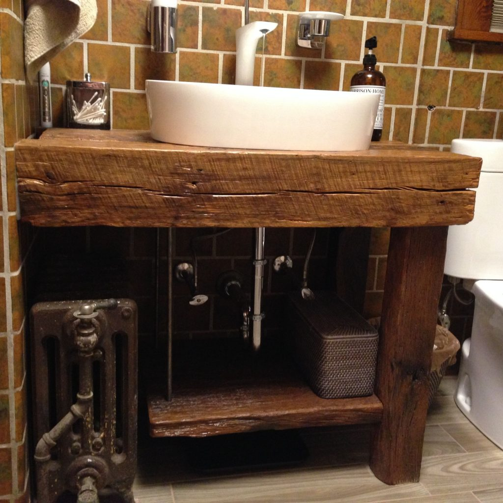 Hand Crafted Rustic Bath Vanity Reclaimed Barnwood Intelligent