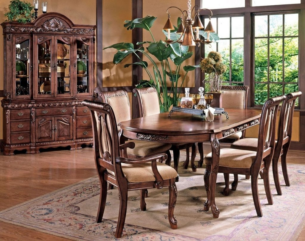 Harmony Dining Room Set Cherry Steve Silver Furniture Furniture Cart