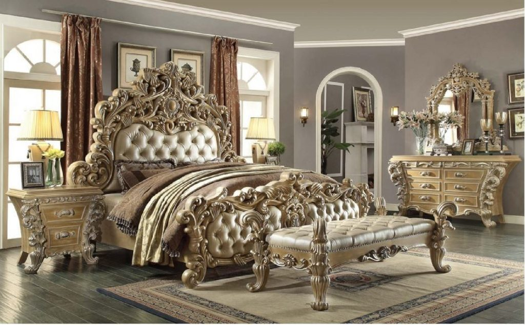 Hd 7012 Homey Design Bedroom Set Victorian European Classic Style