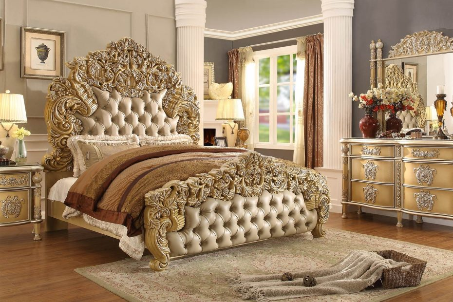 Hd 8015 Homey Design Bedroom Set Victorian European Classic Design