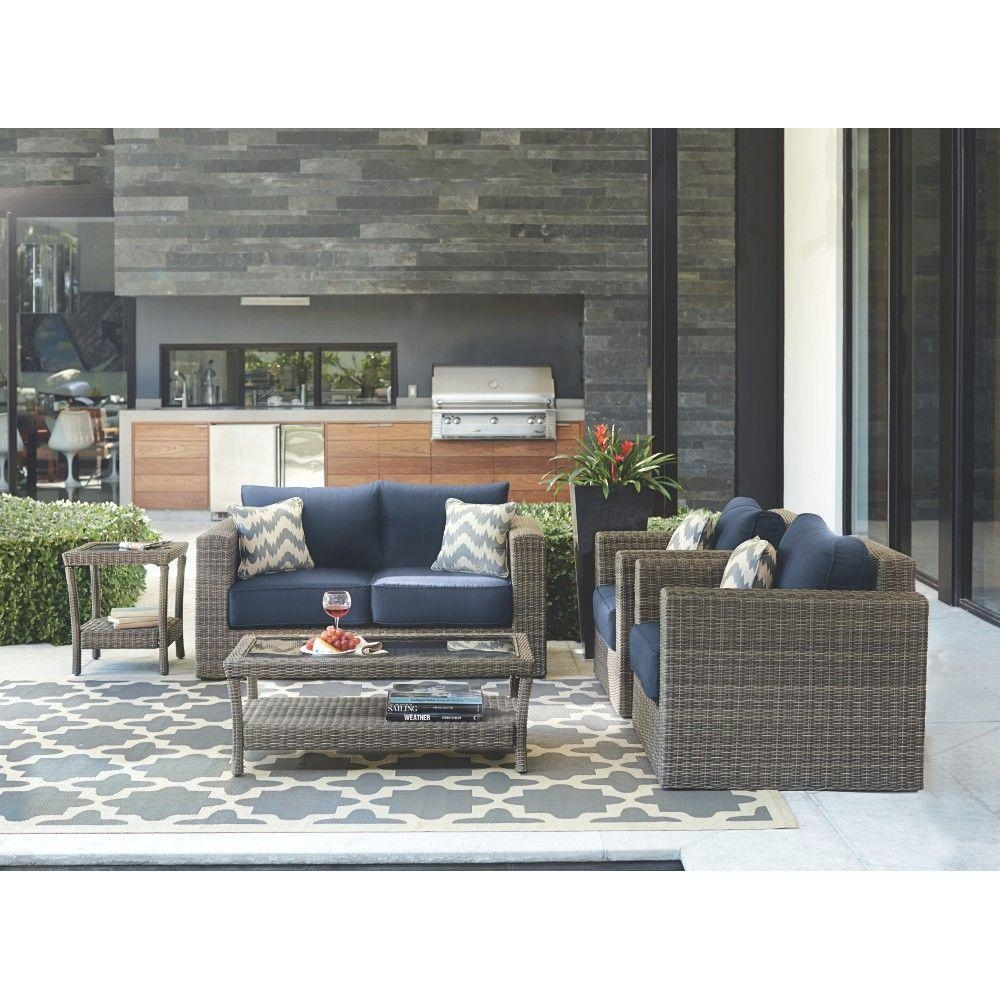 Home Decorators Collection Naples Grey 4 Piece All Weather Wicker