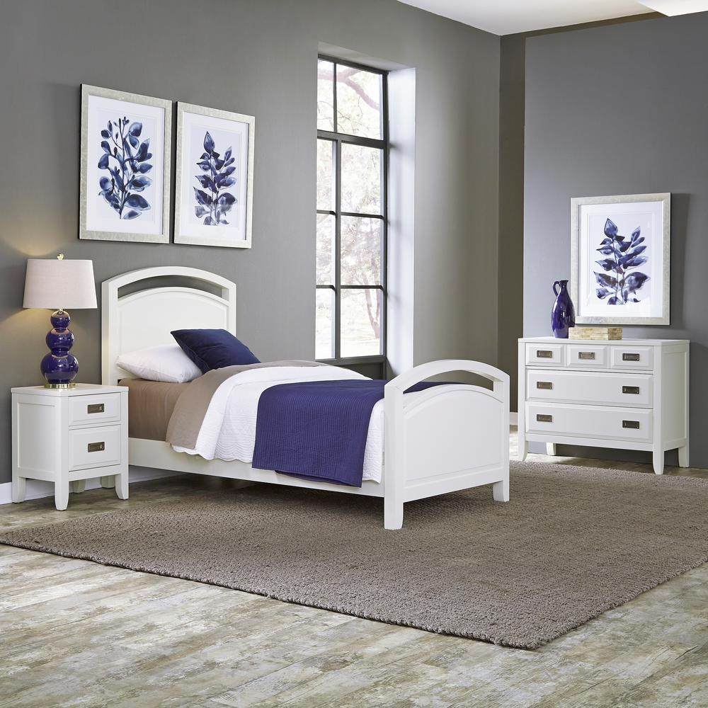 Home Styles Newport 3 Piece White Twin Bedroom Set 5515 4021 The