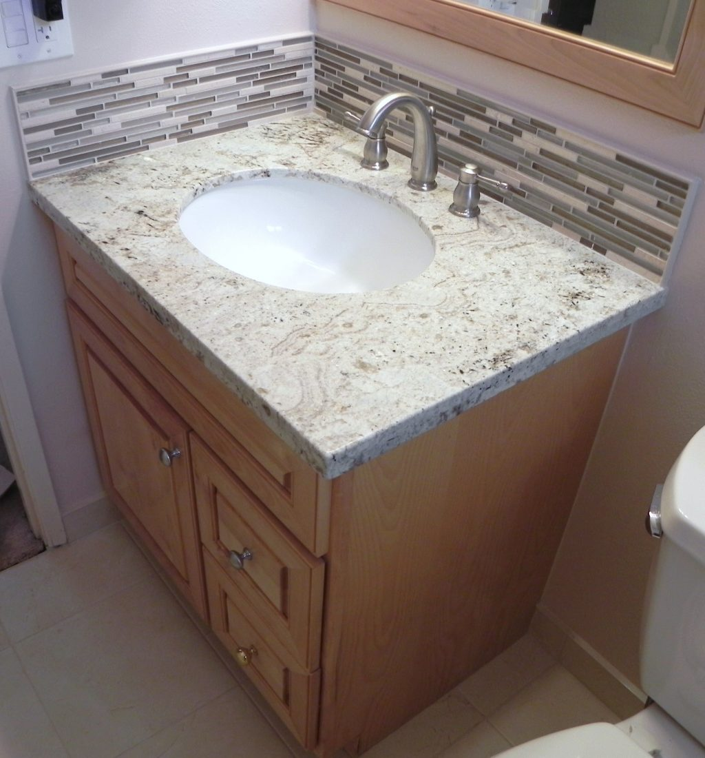 How To Install Vanitygranite Topstone Glass Backsplash Schluter