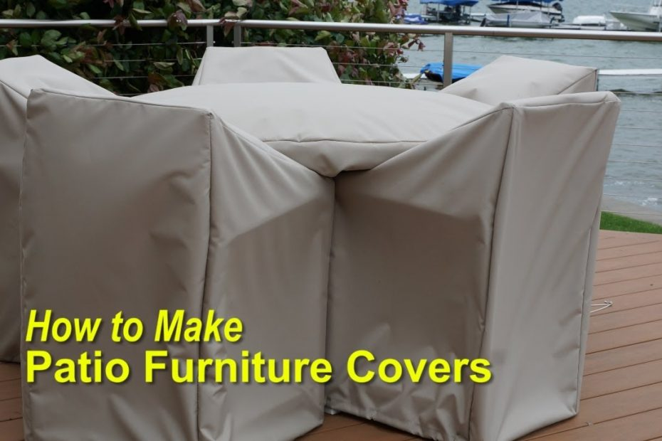 How To Make Patio Furniture Covers Youtube
