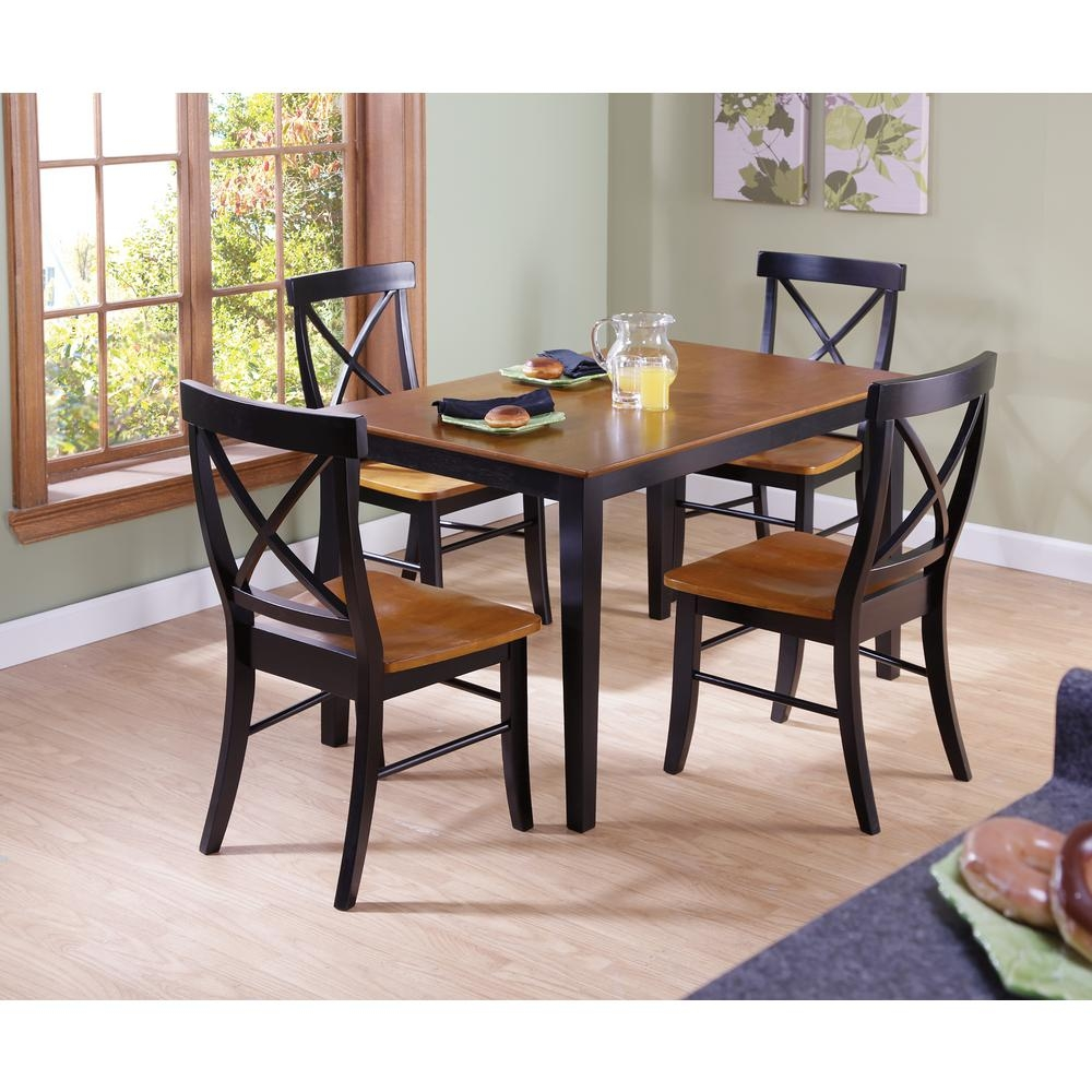 International Concepts Dining Essentials 5 Piece Black And Cherry