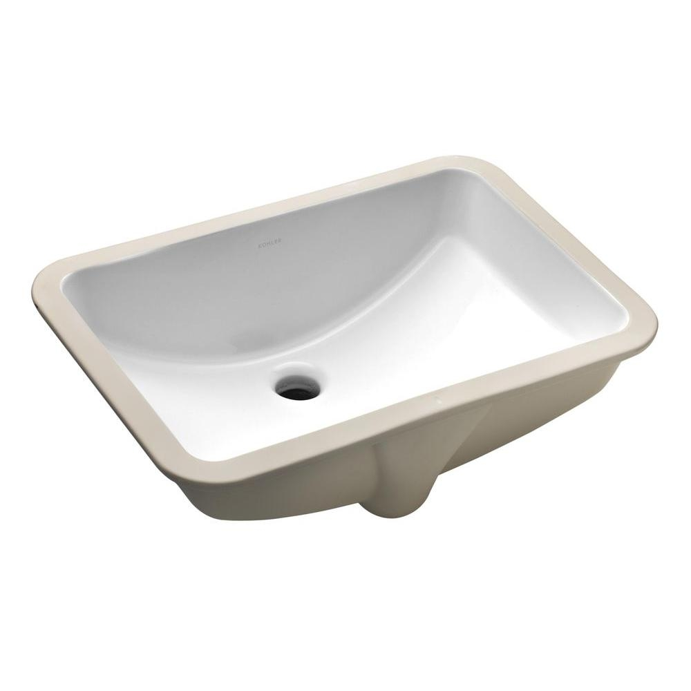 Kohler Ladena 20 78 In Undermount Bathroom Sink In White With