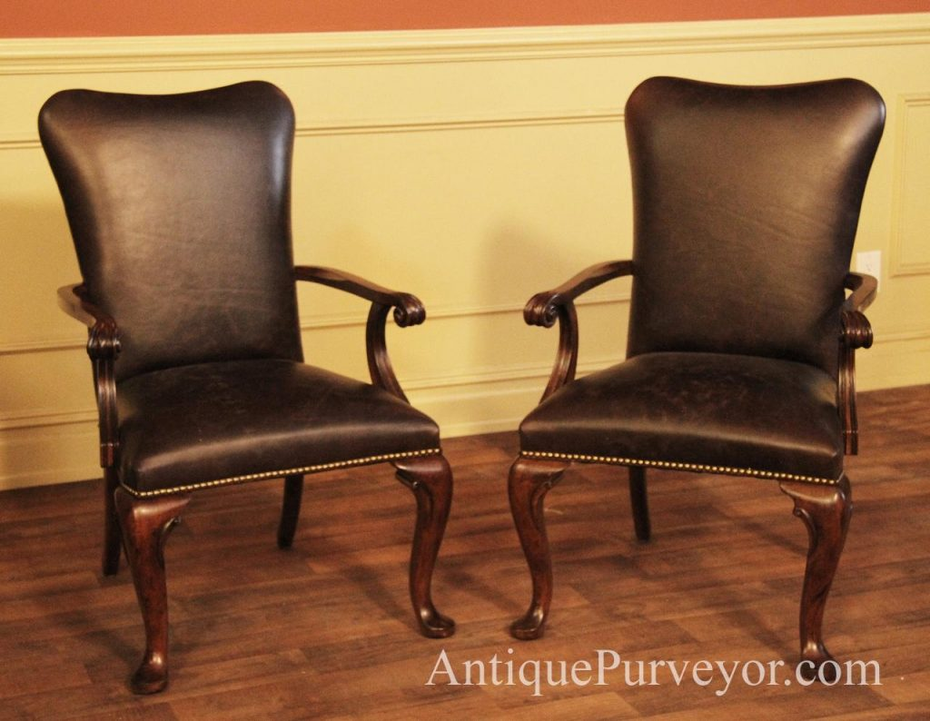 Leather Dining Room Chairs With Arms Leather And Chrome Dining Chairs