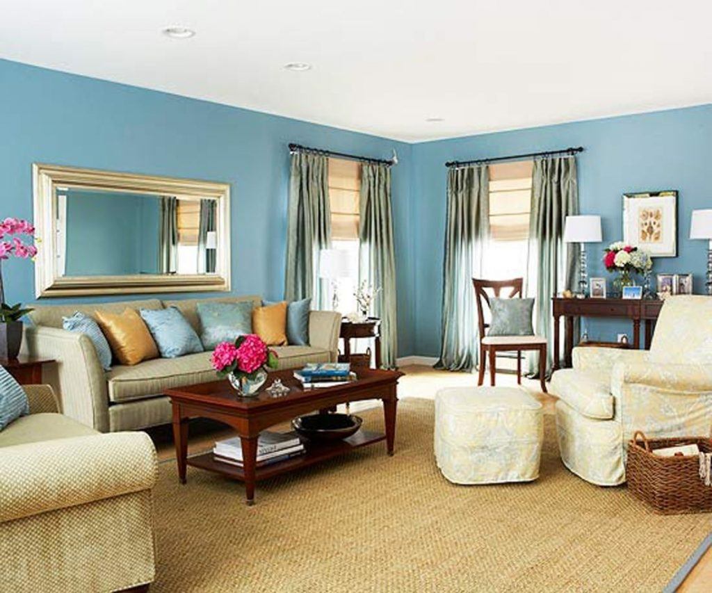 Living Room Blue Walls Soft Blue Wall Living Room Home Design