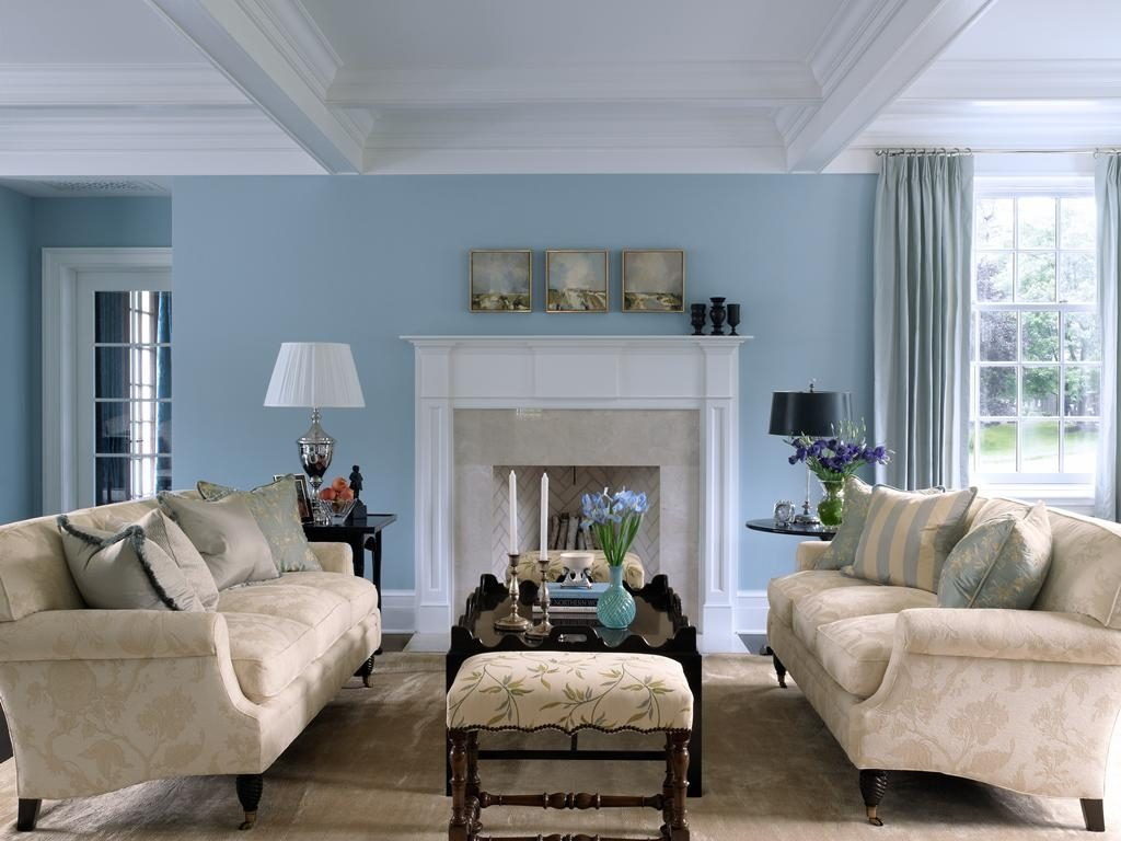 Living Room Cool Blue Living Room Ideas Blue Walls In Blue And Beige
