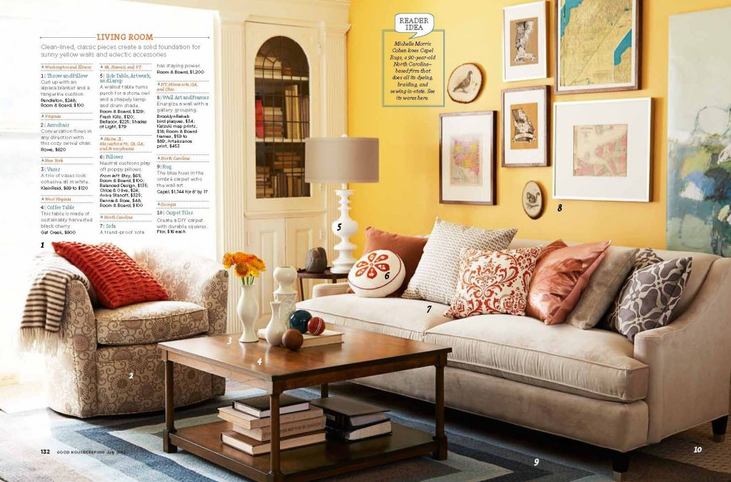 Living Room Decor Yellow Walls Groes Esszimmer Einrichten
