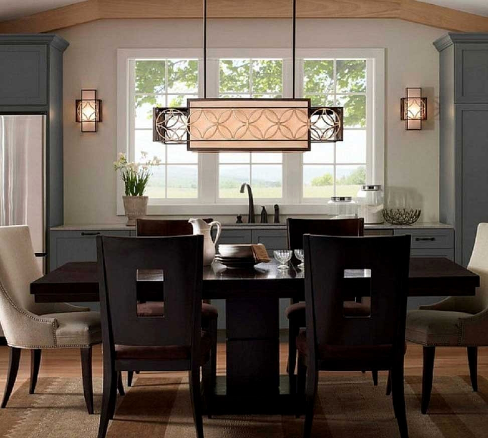Lovely Rectangular Hanging Lamp Dining Room Lighting Fixtures