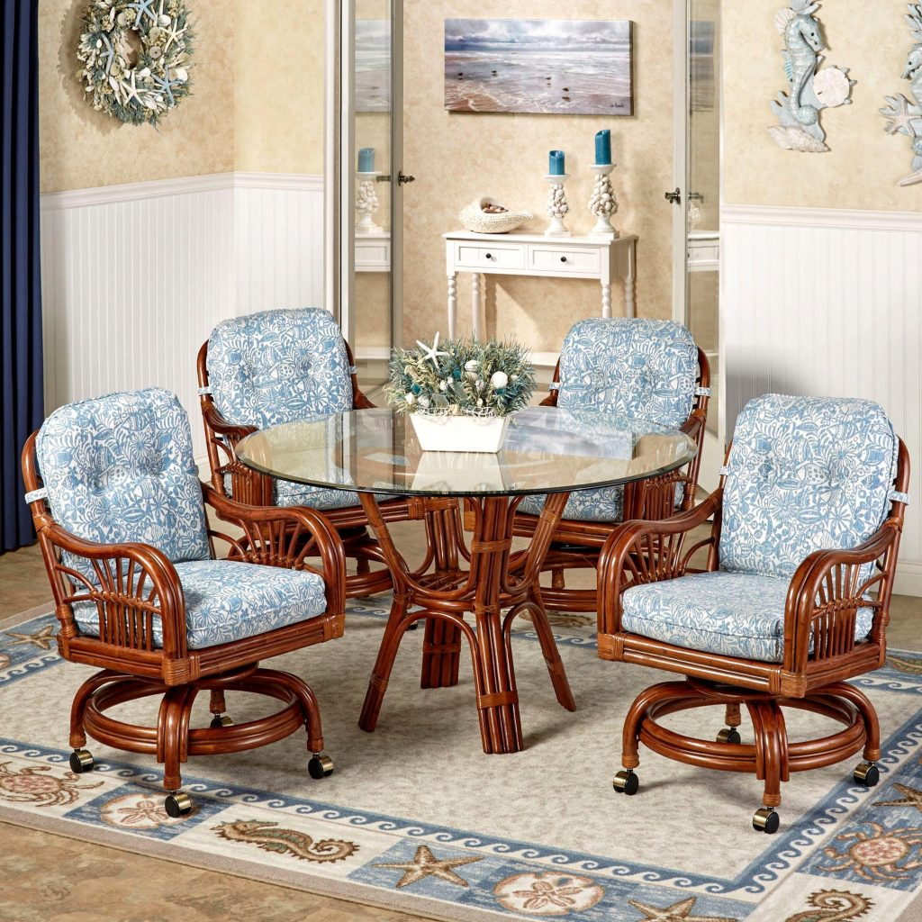 Luxuriant Kitchen Breathtaking Dining Room Chairs Casters Sets With