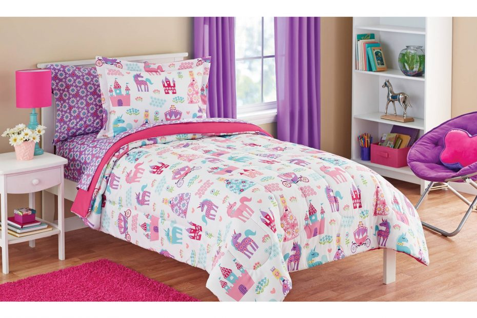 Mainstays Kids Pretty Princess Bed In A Bag Coordinating Bedding Set