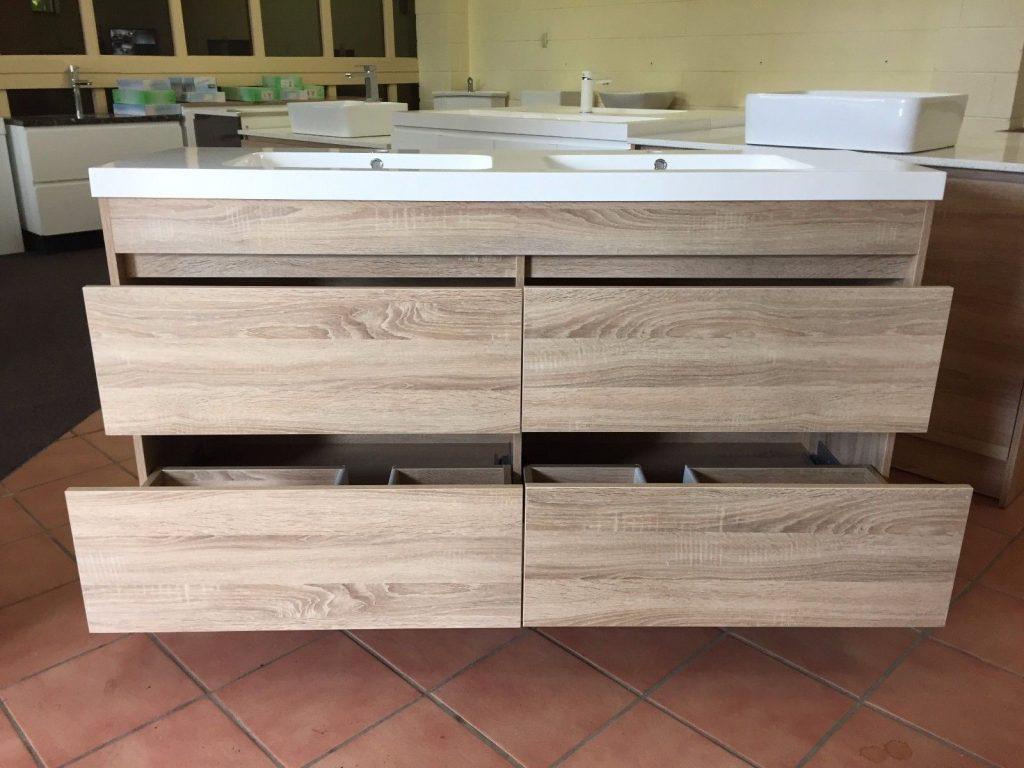 Moda 1500mm White Oak Timber Wood Grain Floor Standing Bathroom