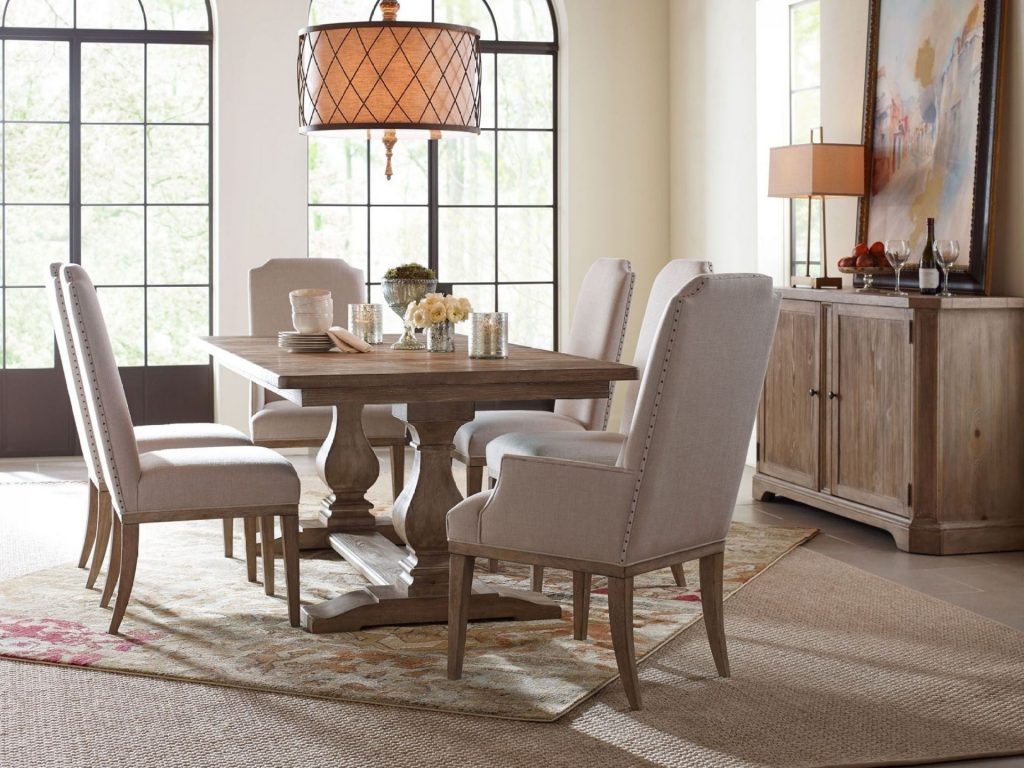 Monteverdi Rectangle Table 4 Upholstered Chairs Woodstock