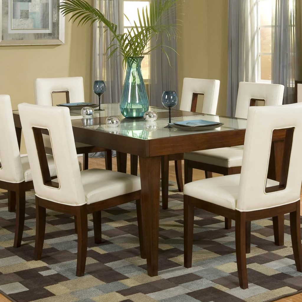 Najarian Enzo Dining Dtenzftcw Rectangular Leg Dining Table With 12