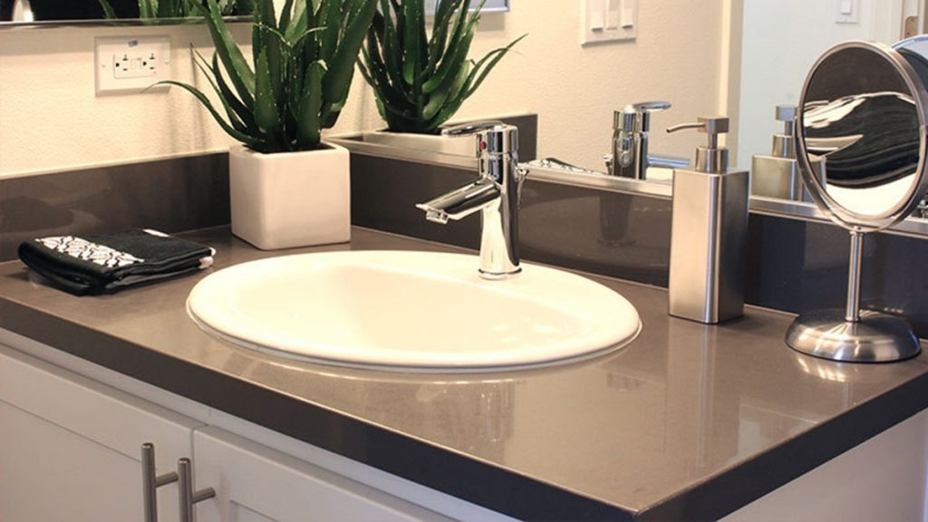 New Quartz Bathroom Countertops The Best Idea Quartz Bathroom
