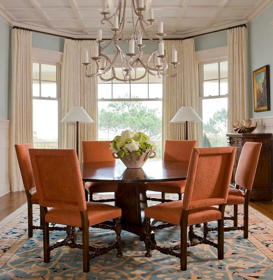 Newest Bay Window Curtains Ideas For Privacy And Beauty Dining