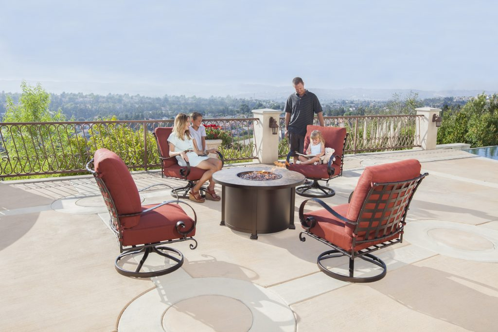 O W Lee Luxurious Outdoor Casual Furniture Fire Pits Scheme Of