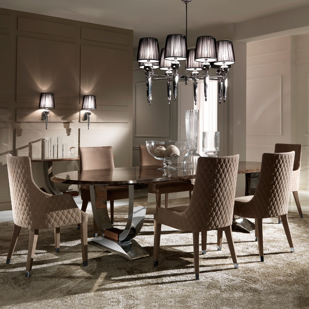 Oval High End Marble Italian Dining Table Juliettes Interiors