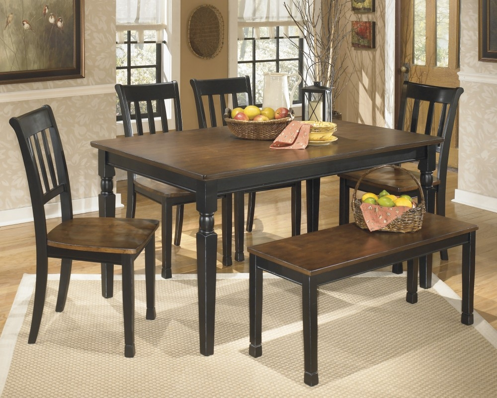 Owingsville Table 4 Side Chairs Bench D5800002425 Dining