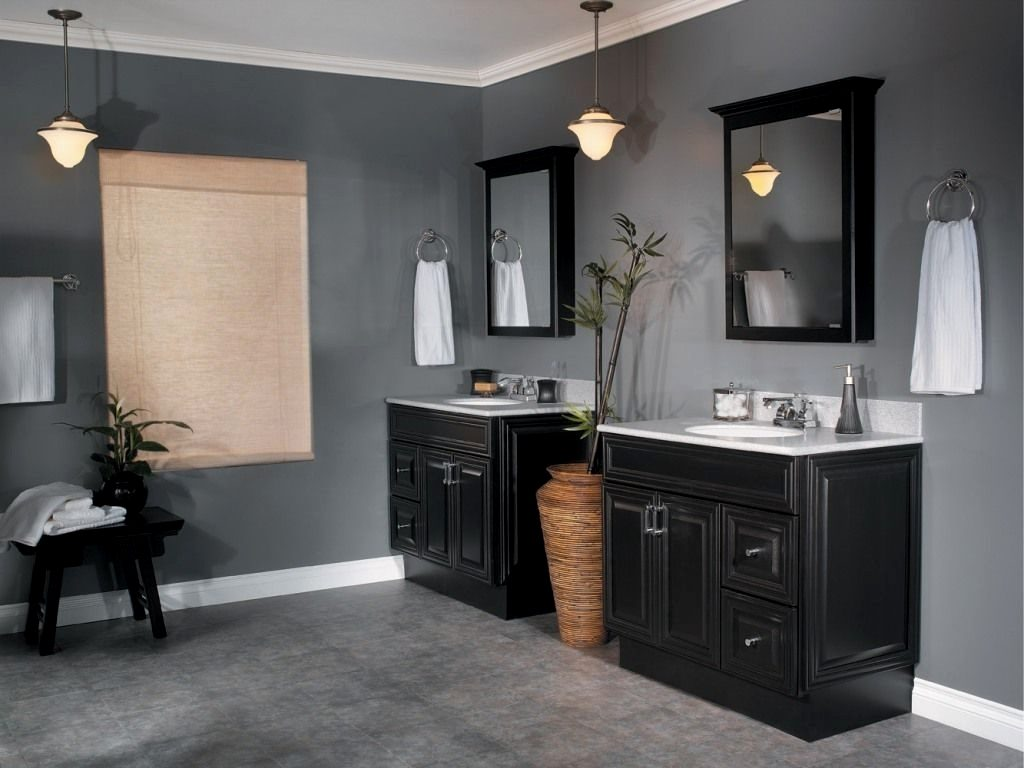 Paint Finish For Bathroom Wainscoting Plus Cabinets With What Is The