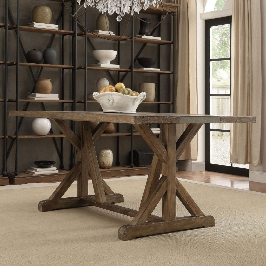 Personable Dining Room Furniture Trestle Standard Slab 60 Inch