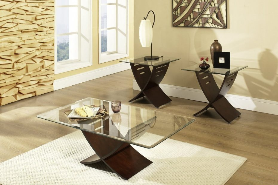 Popular Glass Living Room Furniture Sets New In Custom Table End For
