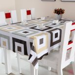 Pvc Table Cloth Plastic Disposable Waterproof Dining Table Cloth