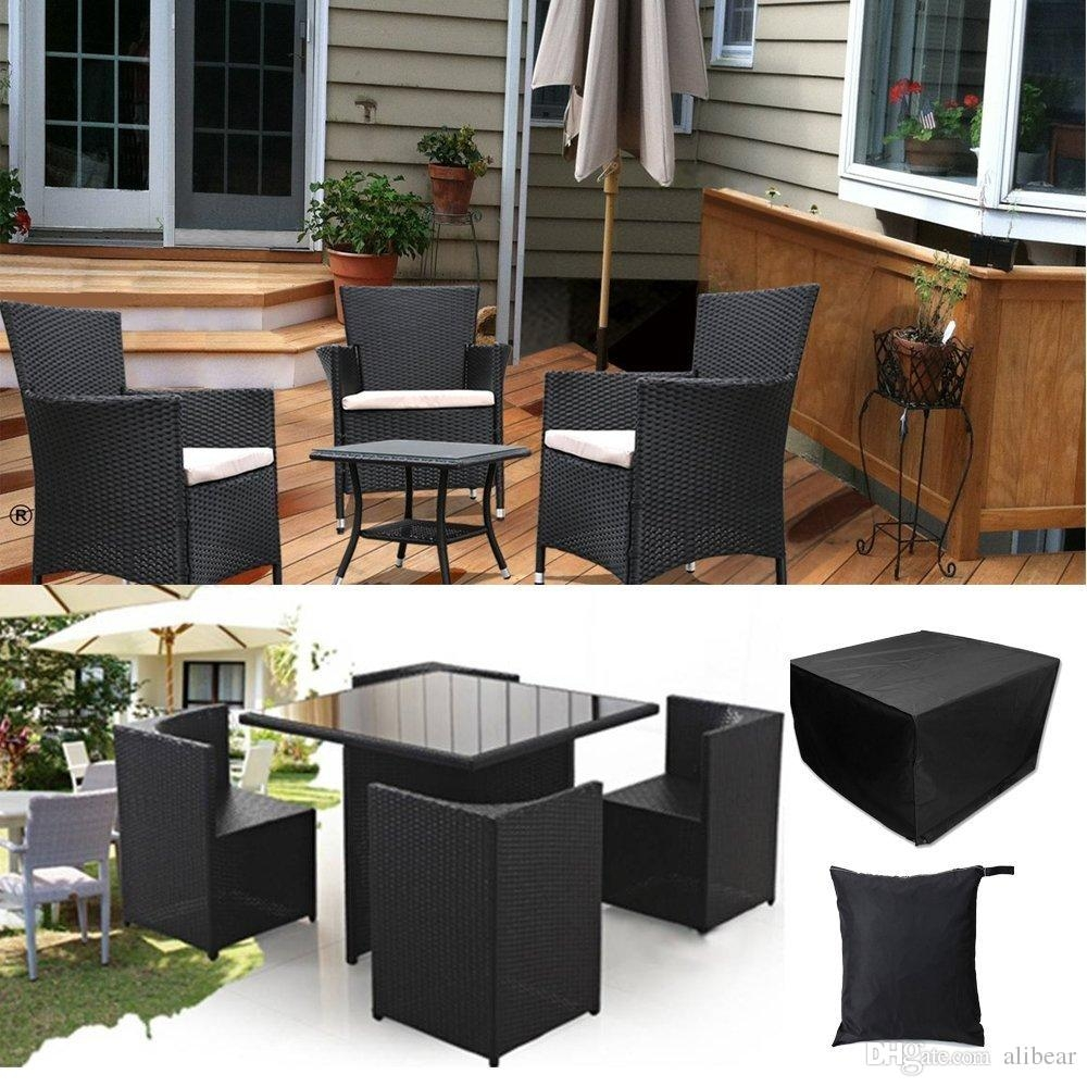 Rectangular Table Chairs Protective Cover Waterproof Dustproof