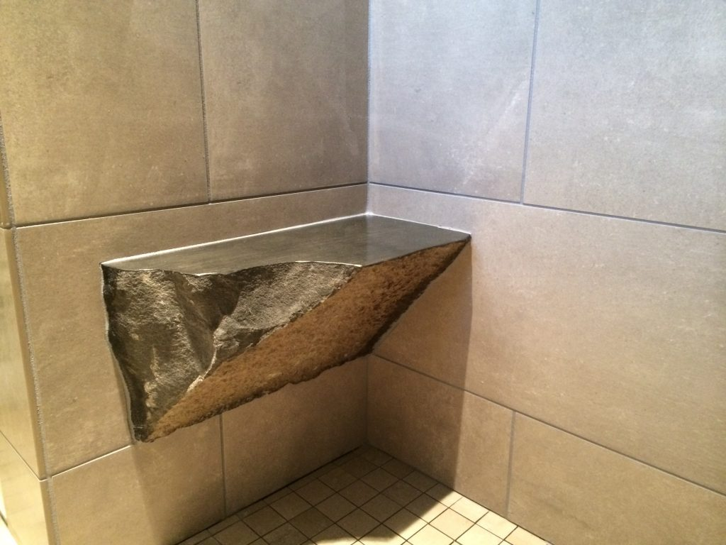Rock Shower Bench Home Construction Remodel Vancouver Wa