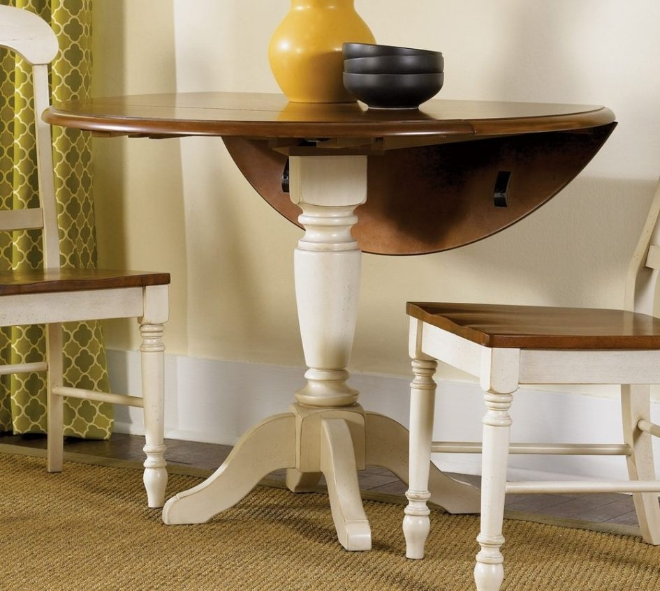 Round Drop Leaf Table Glass Dining Room Tables Built In Wall Seating