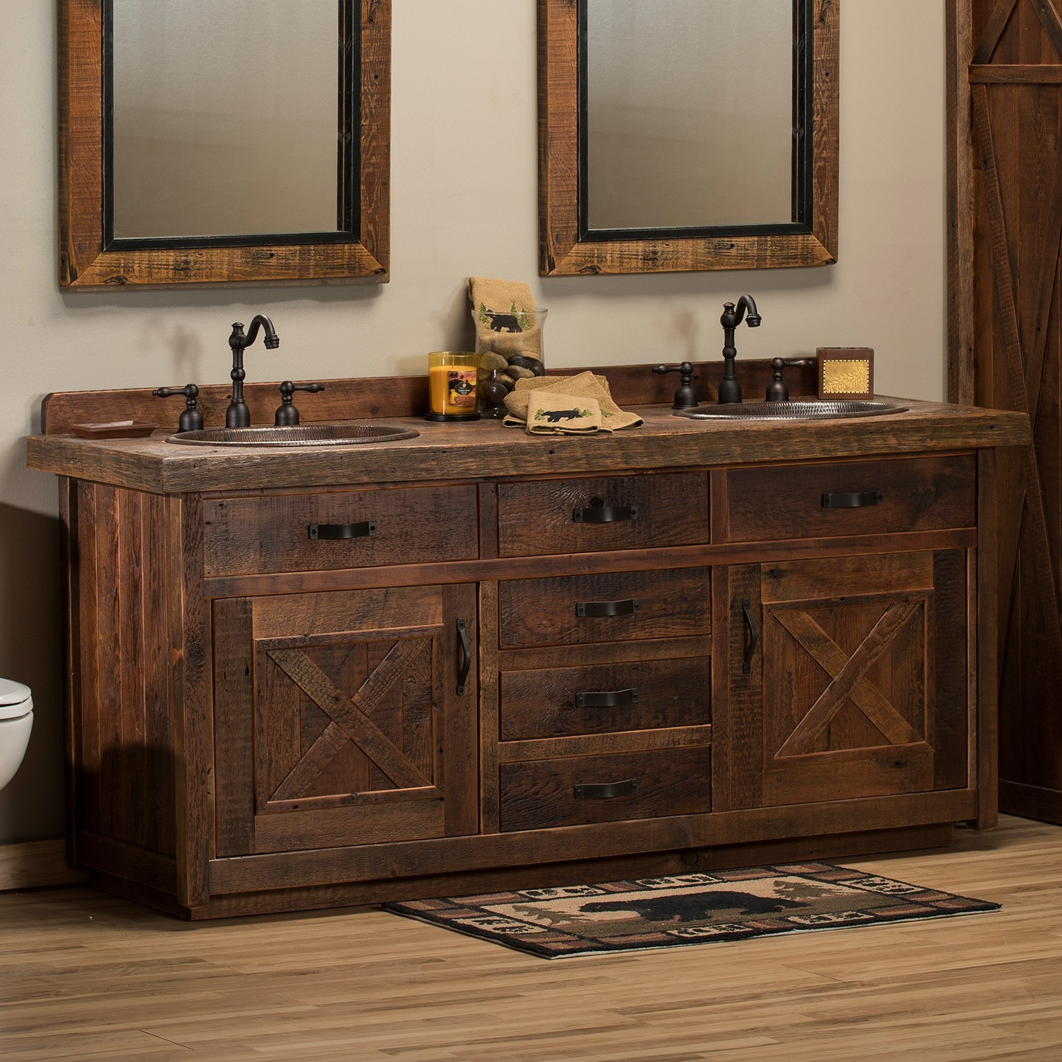 Rustic Vanity Ideas Create New Aesthetic Rustic Bathroom Vanities Layjao