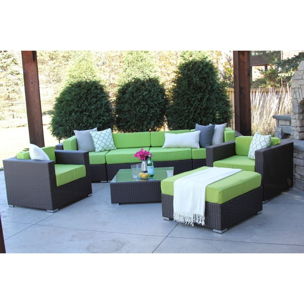 Shop Hiawatha 8 Pc Modern Outdoor Rattan Patio Furniture Sofa Set