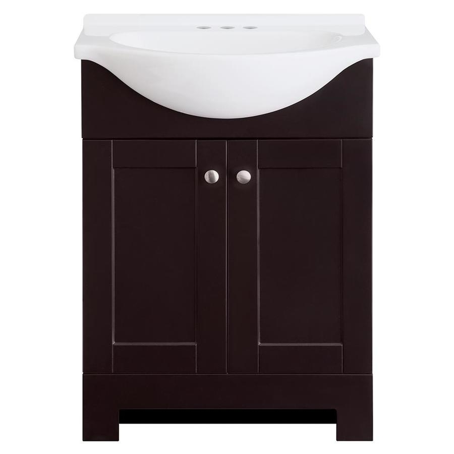 Shop Style Selections Euro Espresso Single Sink Vanity With White
