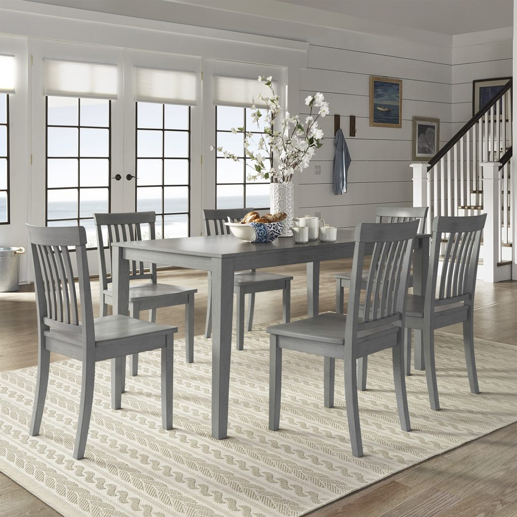 Shop Wilmington Ii 60 Inch Rectangular Antique Grey Dining Set
