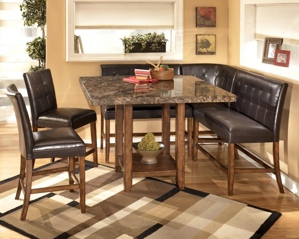 Signature Design Ashley Lacey 6 Piece Corner Dining Pub Set