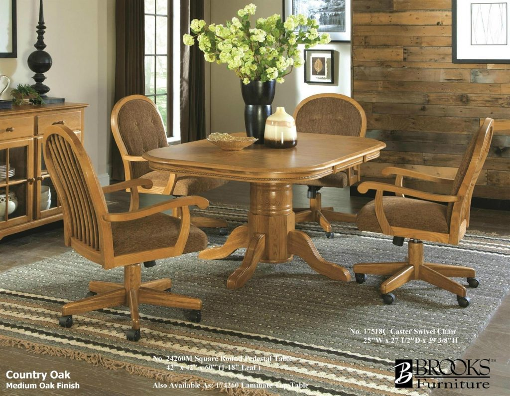Simple Kitchen Chairs With Casters For Beautiful Kitchen With Home