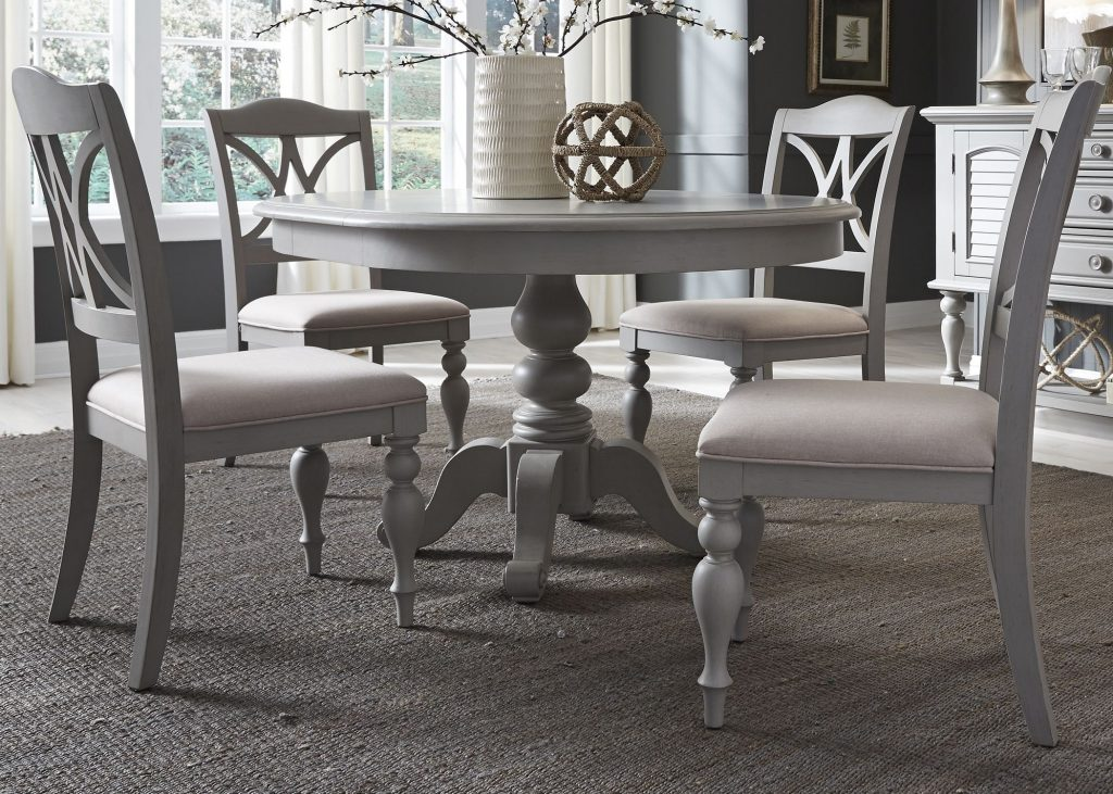Summer House Dove Grey Round Dining Room Set From Liberty Coleman