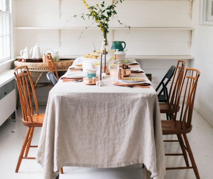 Tablecloth Dining Room Home Design Decorating Ideas