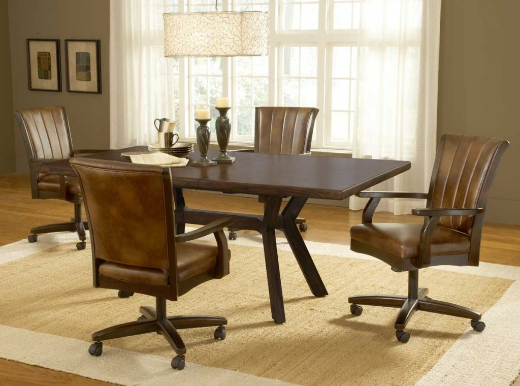 The Benefit Dining Chairs With Casters For Kitchen The Caster