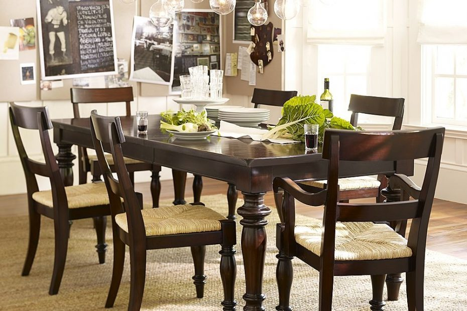 Traditional Dining Room Set With Tuscan Chestnut Side Chair And