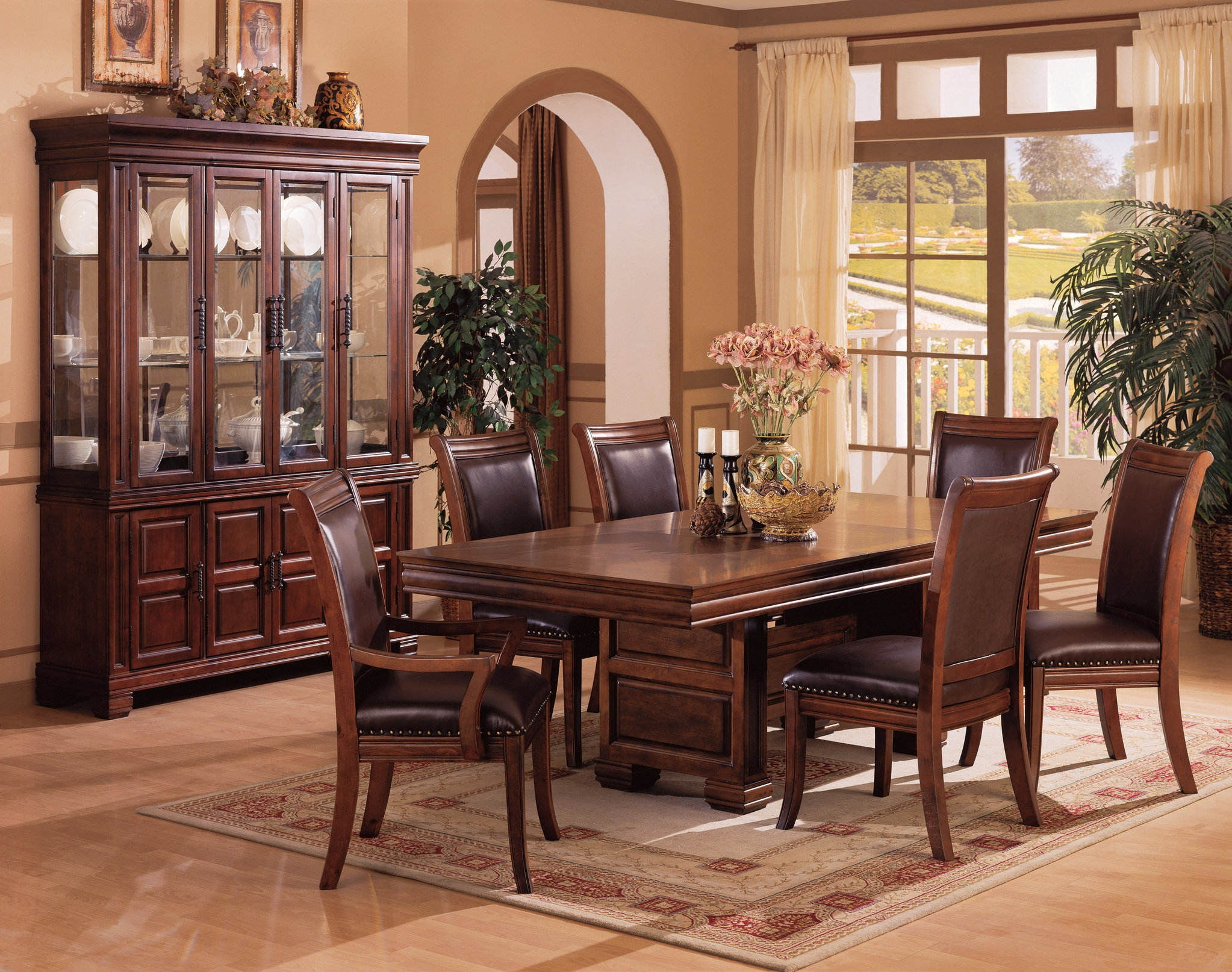 Traditional Table Set For The Dining Room Solid Wood Dining Layjao